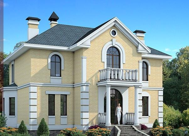 Проект каменного дома Петровское барокко. Проекты кирпичных домов. Строительство под ключ