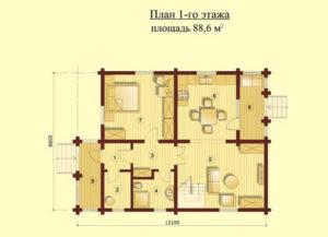 Проект деревянного дома. Проекты домов из бревна и бруса, строительство под ключ